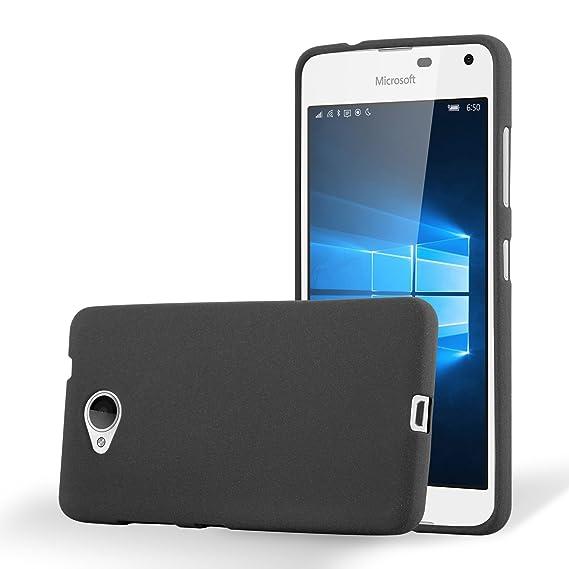 best service de672 2859c Amazon.com: Cadorabo Case Works with Nokia Lumia 650 in Frost Black ...