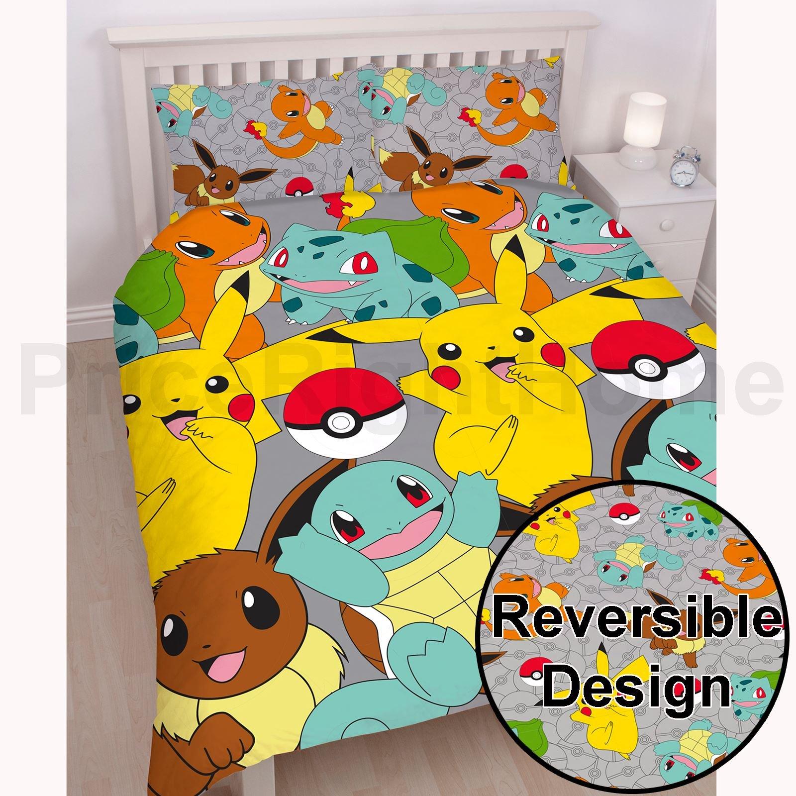 Pokemon Catch UK Double/US Full Duvet Cover Set