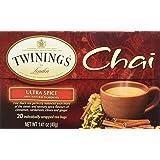TWINING TEA TEA CHAI ULTRA SPICE, 20 BG (Pack of 3)