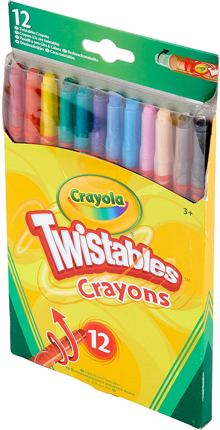 Vivid Imaginations Crayola Twistable Crayons pack Of 12, Multi-colour