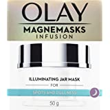 Olay Magnemasks Infusion Illuminating Jar Face Mask for Spots and Dullness, with Anti-ageing formula, 50 grams