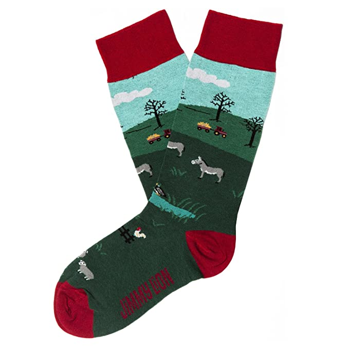 Jimmy Lion The Farm, Calcetines para Hombre, Verde (Dark Green), One