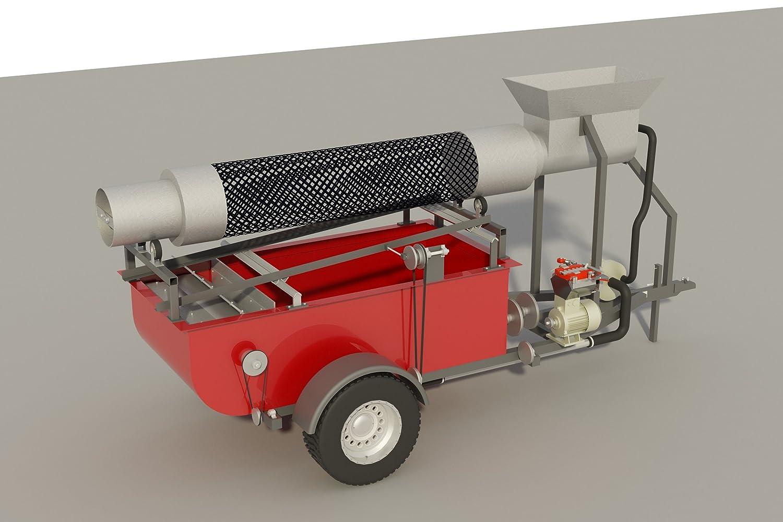 /équipement minier Trommel portable en or pour travaux manuels montage sur remorque 22,9 m