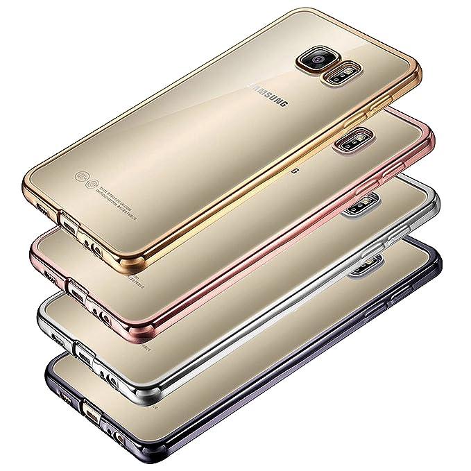 Eximmobile Chrom Case für Samsung Galaxy A3 2016   Handyhülle in Rosegold aus Silikon Cover Schutzhülle aus hochwertigem TPU