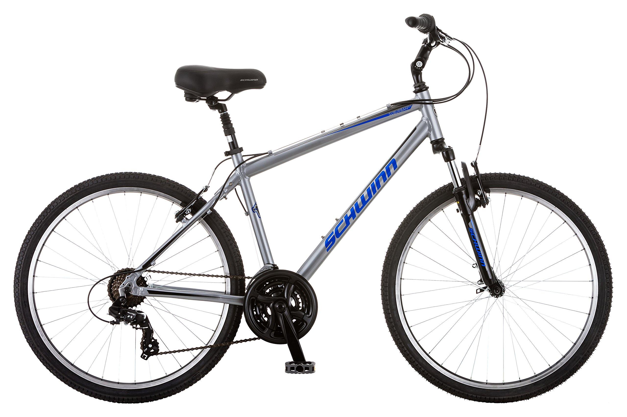 Schwinn Suburban Deluxe Men's Comfort Bike 26'' Wheel Bicycle, Grey, 18 ''/Medium Frame Size