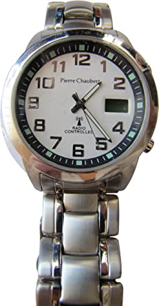 Pierre Chaubert Reloj analógico-Digital para Hombre de Cuarzo con Correa en Acero Inoxidable RADDSS39SV24