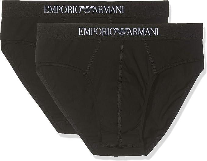 Emporio Armani 111321CC722, Calzoncillos Slip Hombre, pack de 2