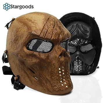 Máscara Stargoods esqueleto para airsoft, paintball, BB Gun y CS, de malla metálica