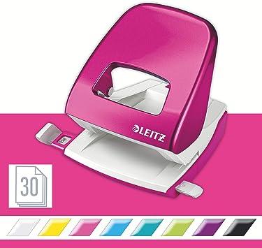 Leitz Locher 2,5mm mit Anschlagschiene pink metallic