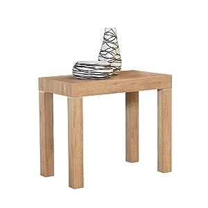 ARREDinITALY - Tavolo Consolle Allungabile finitura Rovere naturale da 90×50 cm. allungabile fino a 300 cm. Diventa un comodo tavolo per 12 persone - Made in Italy