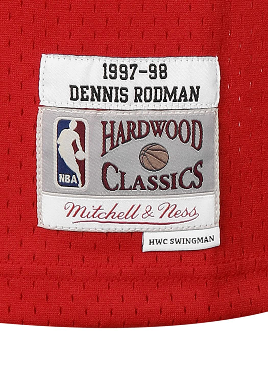 Mitchell & Ness NBA Chicago Bulls Dennis Rodman 91 1997-98 Retro Jersey Swingman Oficial Away Hardwood Classics, Camiseta de Hombre: Amazon.es: Ropa y ...