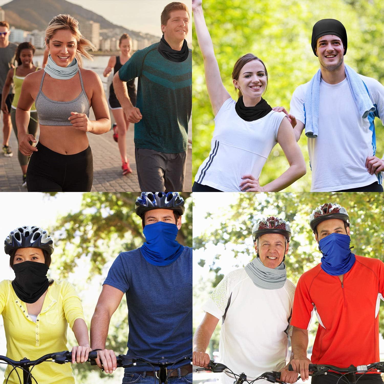 VeVin Pa/ñuelo de protecci/ón UV para el sol seda pesca con agujero para la oreja senderismo bandana para verano deportes al aire libre equitaci/ón protector solar transpirable