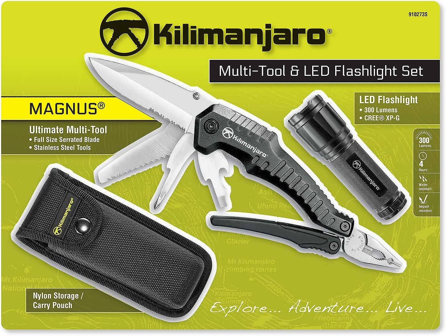Kilimanjaro Multi-Tool LED Flashlight Set