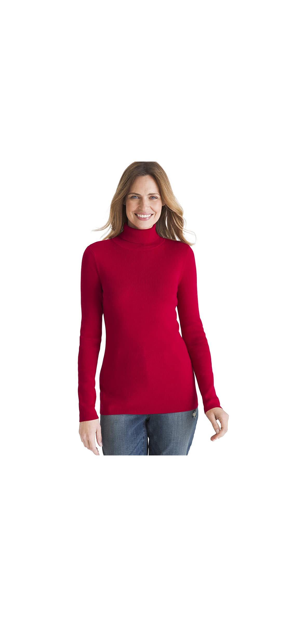 Womens Coolmax Pullover Turtleneck Sweater With Wick
