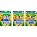 Crayola 16 Washable Broad Line Markers, Colossal, 3 Pack