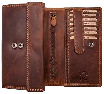 86c6022f31b0eb Hill Burry XXL Echt-Leder Portemonnaie | Vintage Geldbörse aus hochwertigen  weichem Voll-Leder