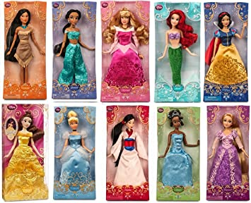 Disney Store Princess 12quot Doll Collection Holiday Gift Set Featuring All 10 Princesses