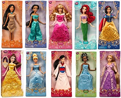 amazon com disney store disney princess 12 doll collection holiday