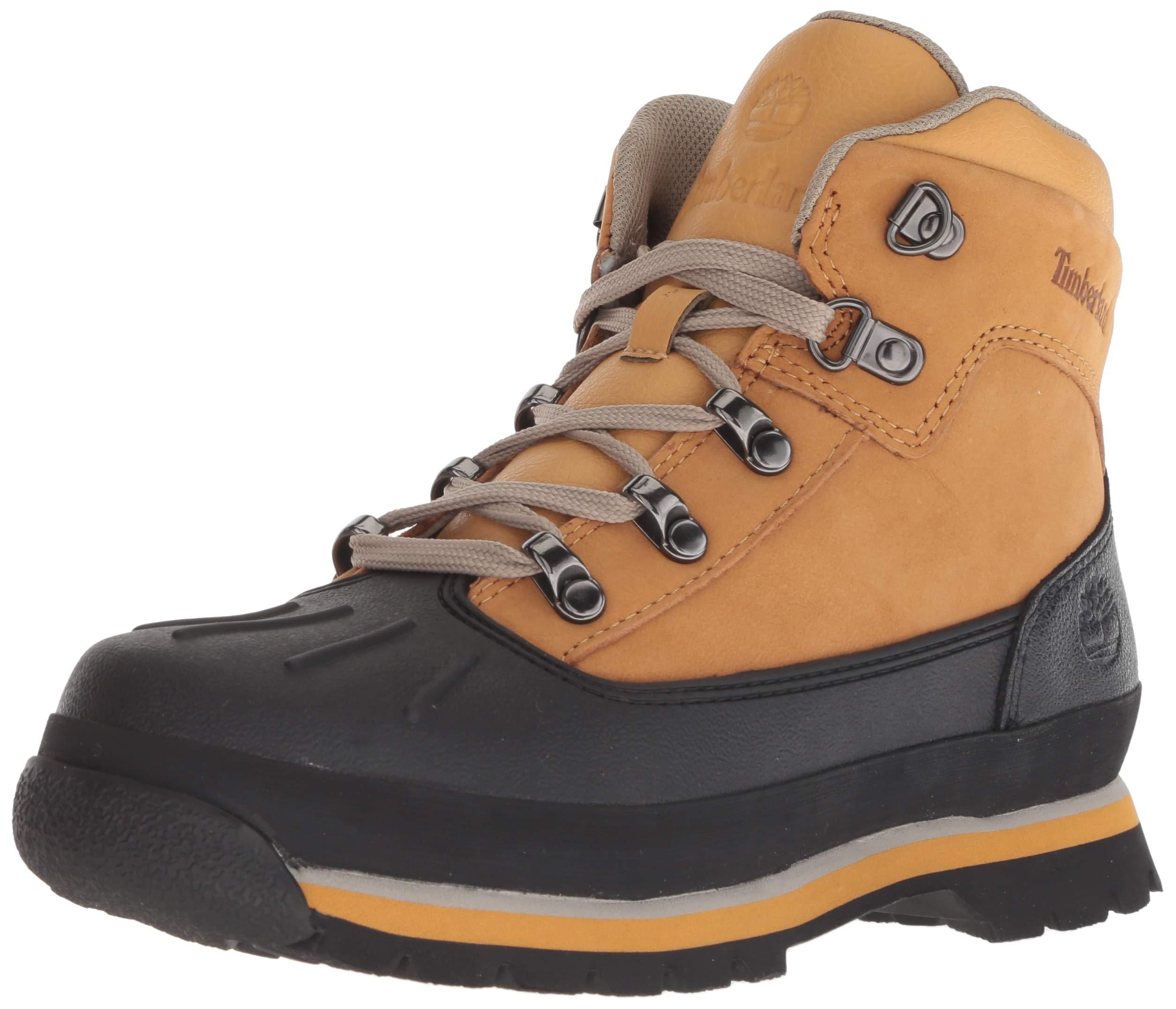 Timberland Unisex Euro Hiker Shell Toe Fashion Boot, Wheat Nubuck, 12.5 Medium US Little Kid