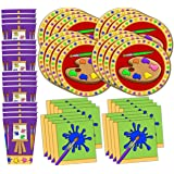 Artist Painting Birthday Party Supplies Set Plates Napkins Cups Art Tableware Kit for 16 by Birthday Galore
