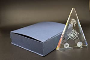 Masonic Crystal Paper Weight - 4th July Independence days special.