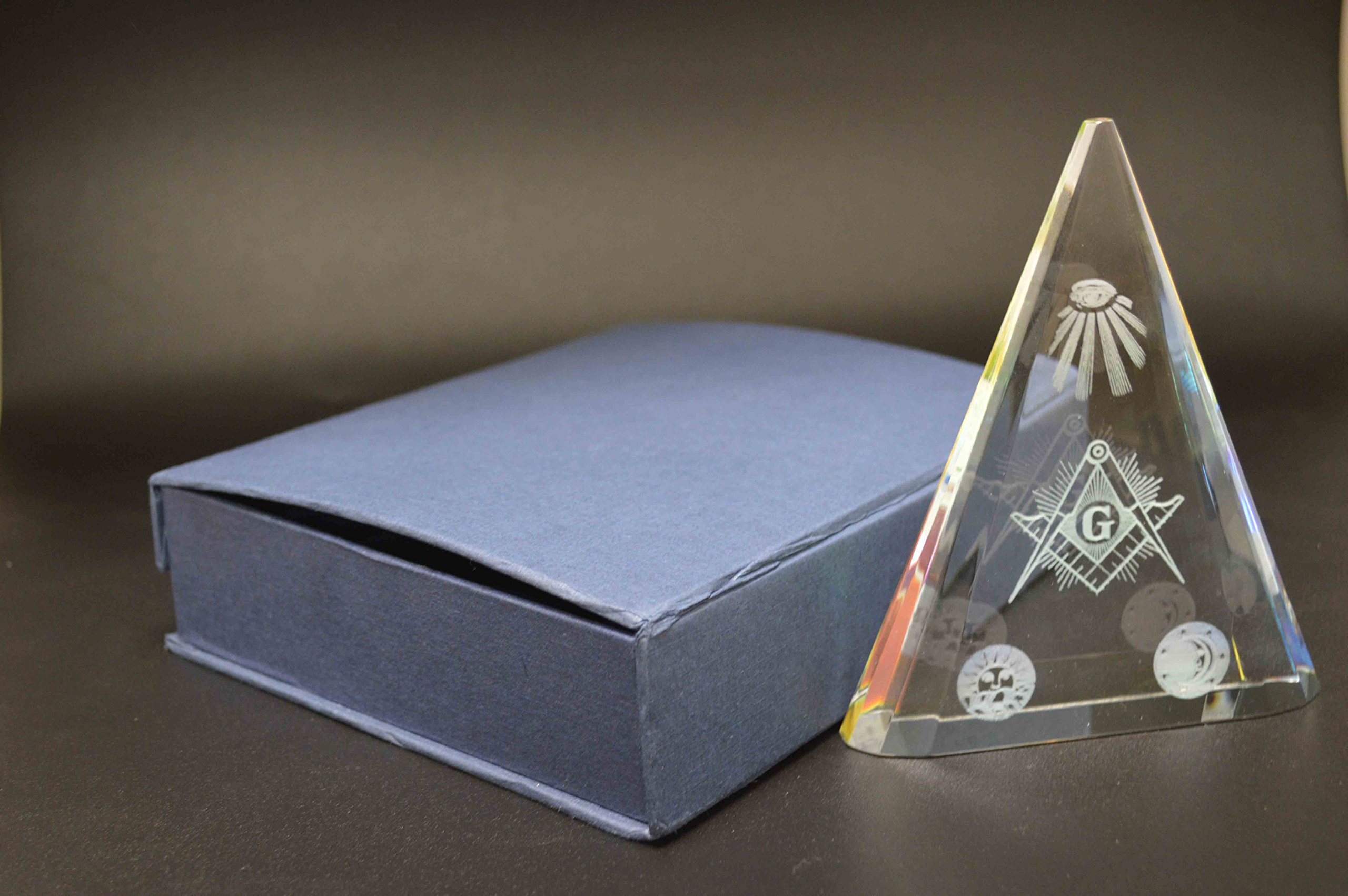 Masonic Crystal Paper Weight