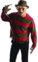 Rubie's Men's Nightmare On Elm St Freddy Krueger Shirt with Mask