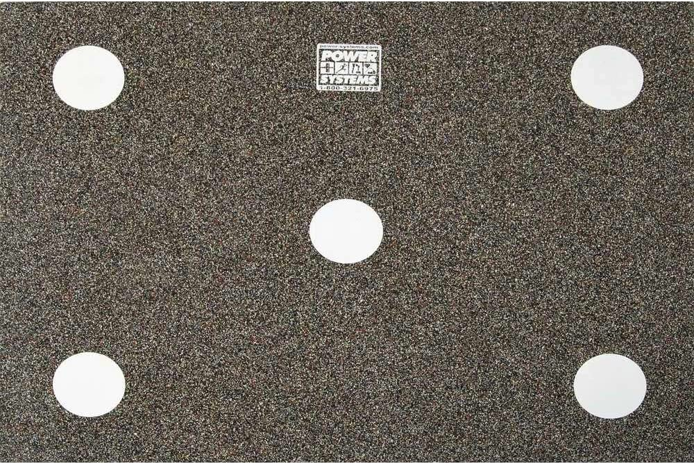 Power Systems Dot Drill Floor Mat for Foot Speed Training, 48.5 x 36 x 1 2 Inches, Black and White 30700