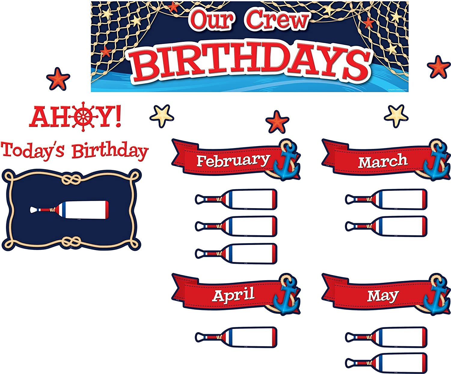 Nautical Our Crew Birthdays Mini Bulletin Board