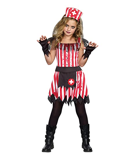 Sugarsugar Girls Candy Striper Costume One Color Large One Color Large
