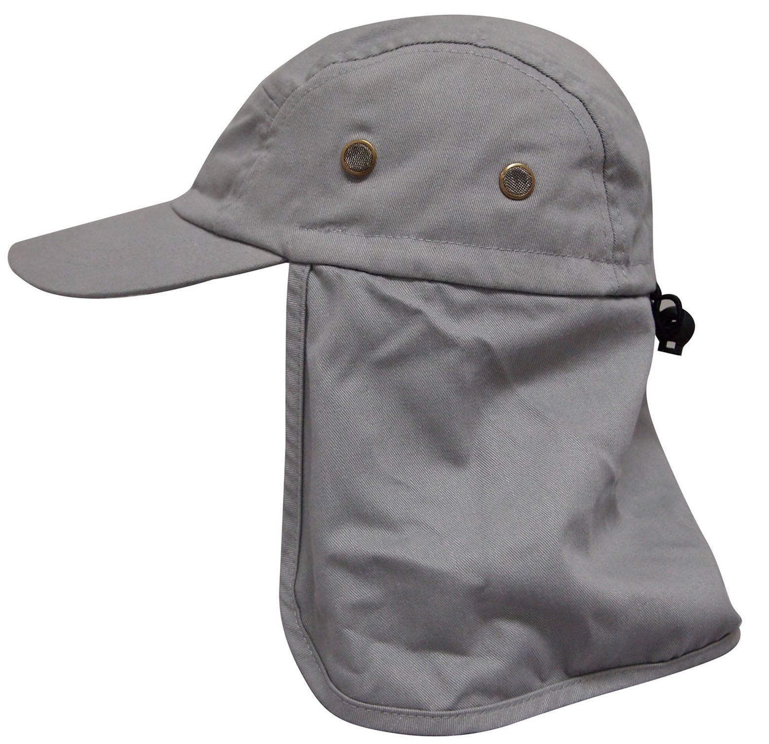 AshopZ Ear Flap Caps Sun Protection Outdoor Neck Shade Hat, Grey