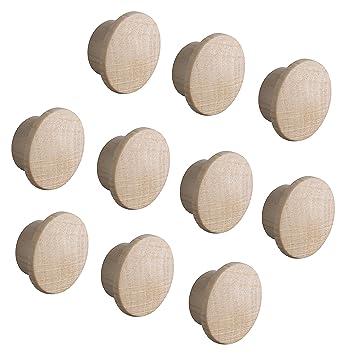 Gesamt /Ø 17 mm Gedotec Lochabdeckungen universal Abdeckkappen Holz f/ür Blind-Bohrung /Ø 15 mm Massivholz Eiche naturbelassen 20 St/ück Kappen rund zum Eindr/ücken