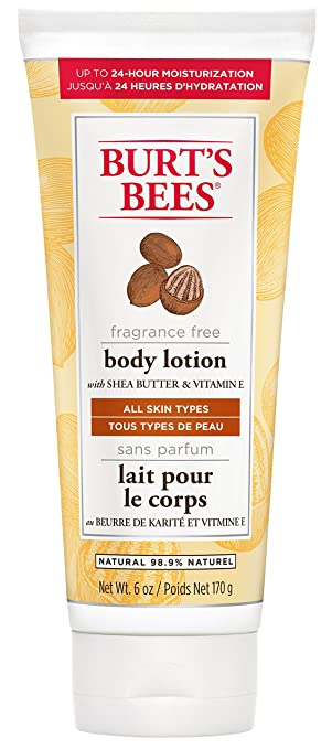 Burt\'s Bees Fragrance Free Shea Butter and Vitamin E Body Lotion ...