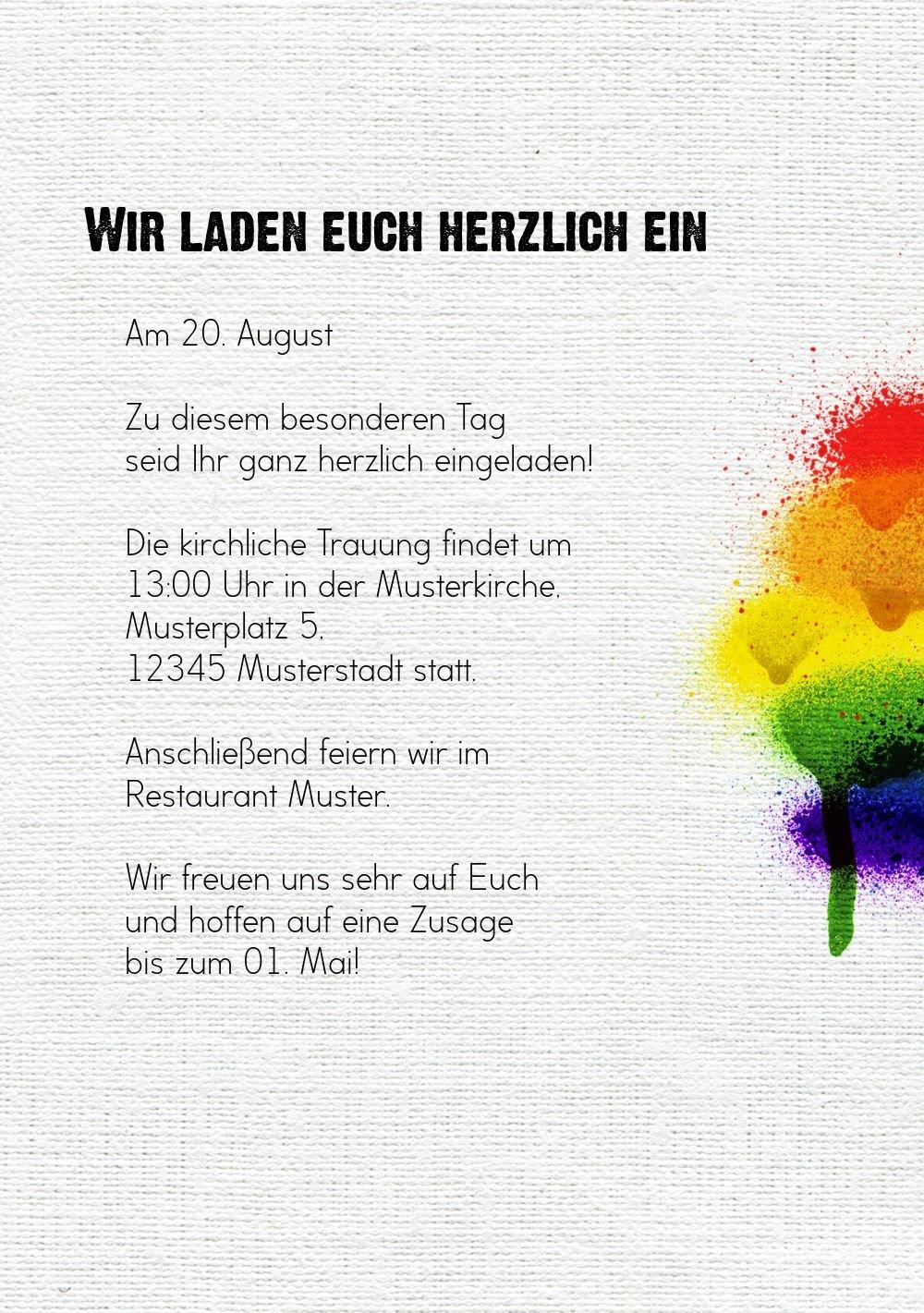 Hochzeit Einladung Regenbogenliebe, 20 Karten, Weiß B07B6QZJC7 B07B6QZJC7 B07B6QZJC7 | Hochwertige Produkte  | Sale Online Shop  | Reichlich Und Pünktliche Lieferung  65ee5b