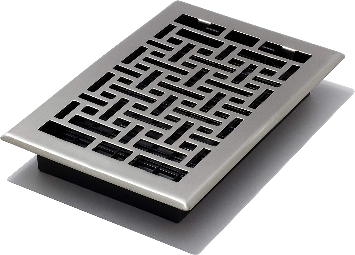 Decor Grates AJH610-NKL Oriental Floor Register, 6-Inch by 10-Inch, Nickel