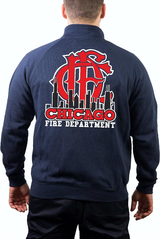 Skyline//embl/ème feuer1 Surv/êtement /à Capuche Bleu Marine Chicago Fire Dept