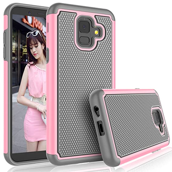 half off e0fb3 42429 Tekcoo Galaxy A6 Case, For AT&T Samsung Galaxy A6 Case For Girls, [Tmajor]  Shock Absorbing [Baby Pink] Rubber Silicone & Plastic Scratch Resistant ...