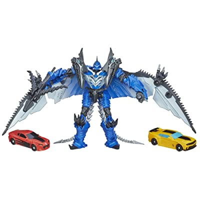 Transformers 4 Age of Extinction Exclusive Action Figure 3-Pack Bumblebee & Strafe Vs Decepticon Stinger: Toys & Games