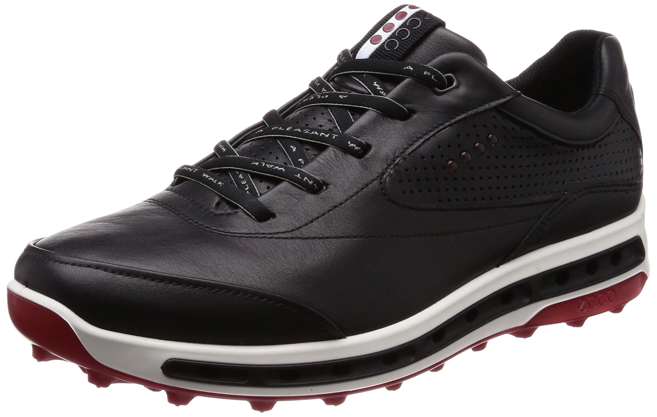 ECCO Men's Cool Pro Gore-TEX Golf Shoe Black/Brick 40 M EU (6-6.5 US)