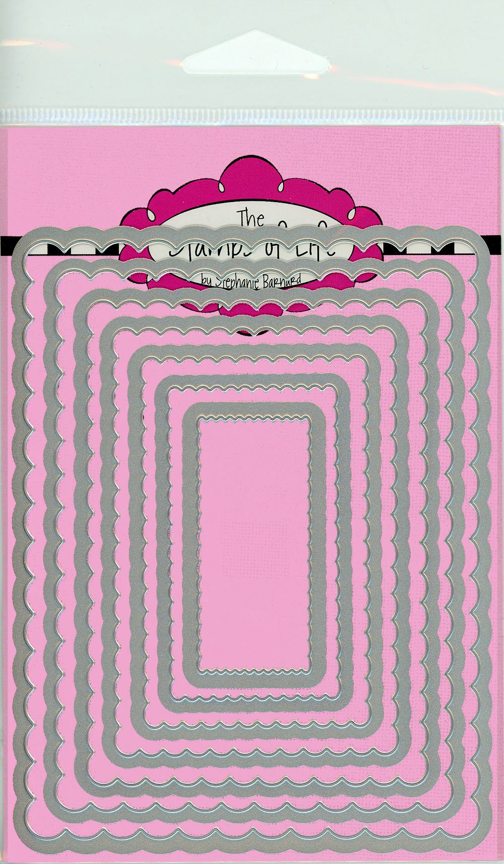 Scalloped Rectangles Die Cuts for Card Making and Scrapbooking by The Stamps of Life - Borders