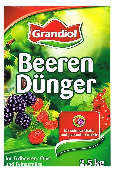 Grandiol Abono orgánico para bayas, de minerales, 2,5 kg, con magnesio