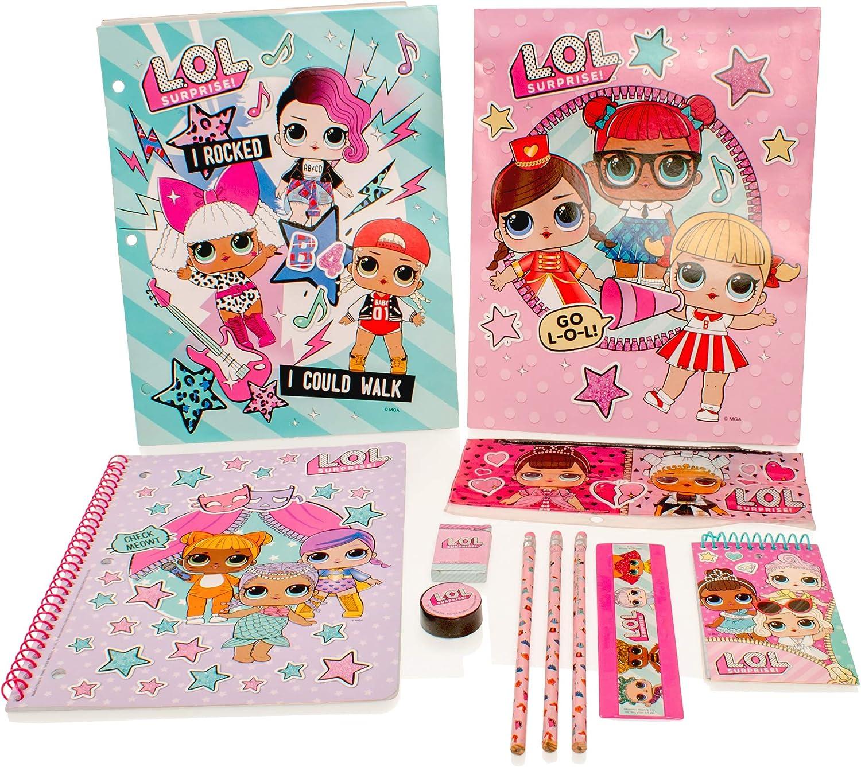 MGA Entertainment LOL Surprise Deluxe Stationery Set Kit matite per Notebook per matite per Ragazze