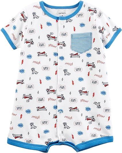 9ff018b829f0 Amazon.com  Carter s Baby Boys  Snap-Up Cotton Romper  Clothing