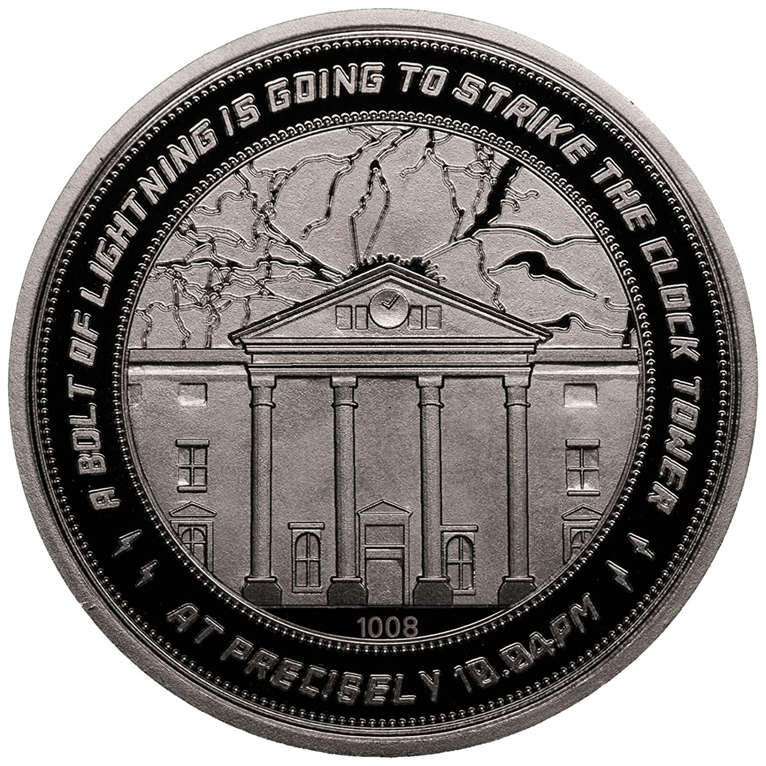 Iron Gut Publishing Back to The Future Collectable Coin 25Th Anniversary Clock Tower