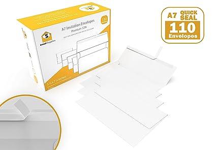 amazon com white invitation 5 x 7 envelopes 110 pack for 5x7