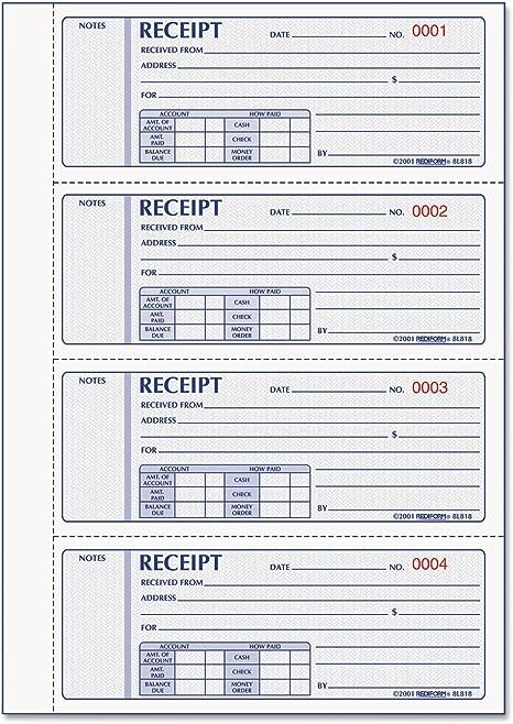 Rediform Money Receipt Book 2 3//4 x 7 Carbonless Duplicate Ships Free!