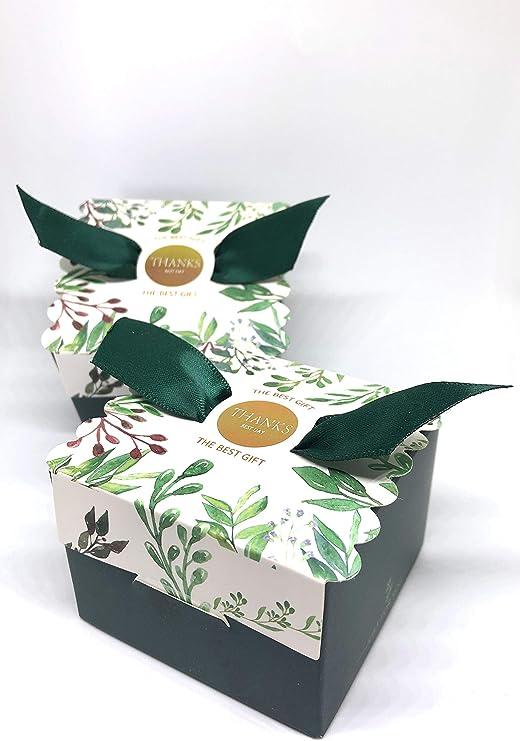 50 Cajas(Cajitas de carton) para detalles Boda, Comunion, Cumpleaños, Navidad, Fiestas infantiles, eventos. Cajitas prar regalos, bombones, chuches, caramelos. (Bosque): Amazon.es: Hogar