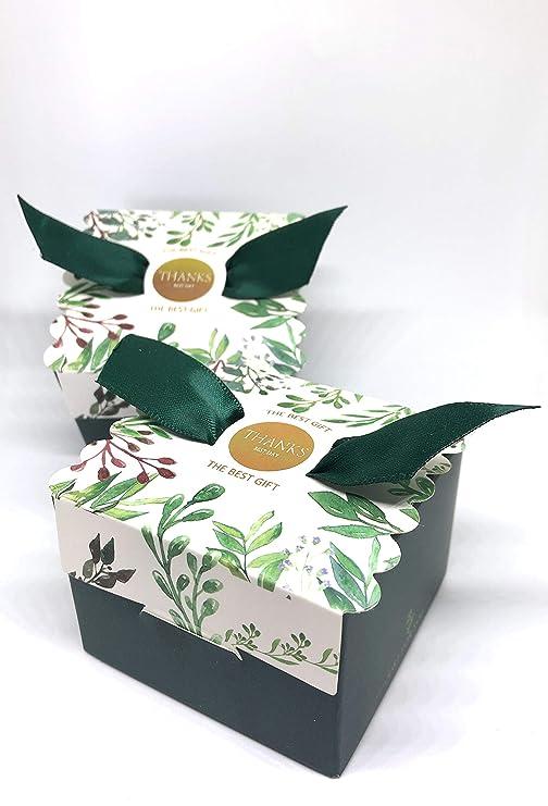 50 Cajas(Cajitas de carton) para detalles Boda, Comunion, Cumpleaños, Navidad, Fiestas infantiles, eventos. Cajitas prar regalos, bombones, chuches, ...