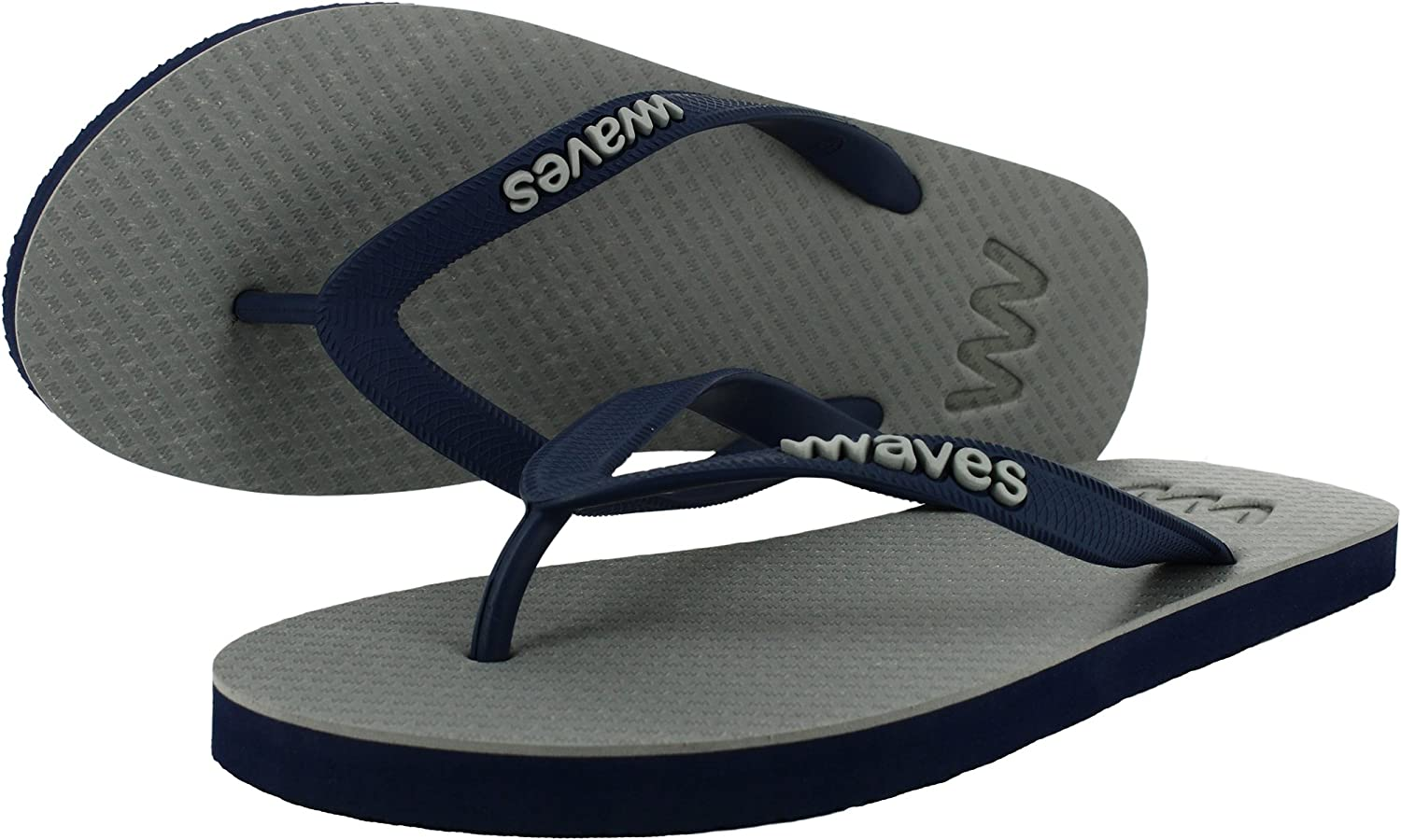 New Waves Black and Gold Twofold Real Rubber Flip Flops for Men Beach Gym Shower