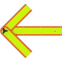 Flecha de seguridad reflectante Deflecto Roadside de emergencia, magnética y montable, 18 pulgadas (SA-2034C)